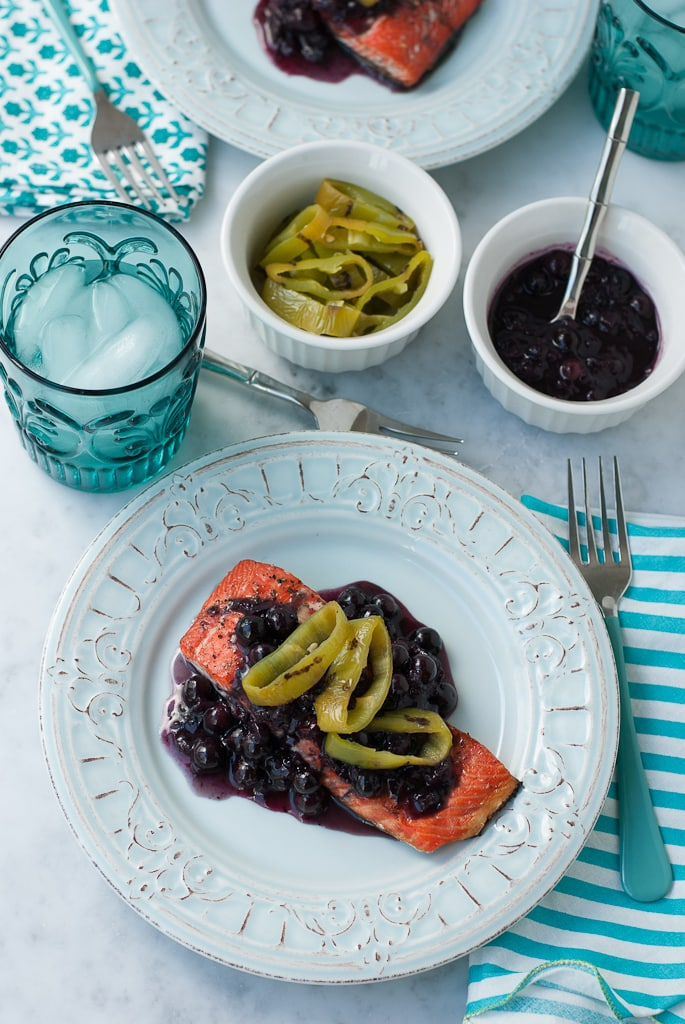Grilled Wild Copper River Salmon With Blueberry Hatch Chili Sauce healthy www.pineappleandcoconut.com 5