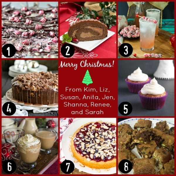 holiday food party collage