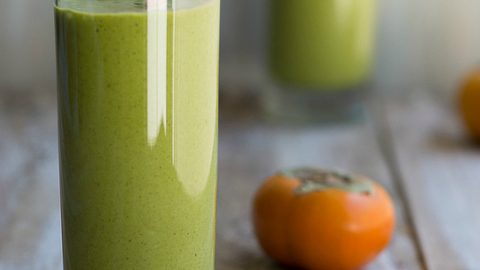 Persimmon and Medjool Date Green Monster Smoothie and a Huge Cookbook #Giveaway