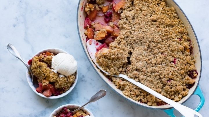 Quince Cranberry and Persimmon Crisp