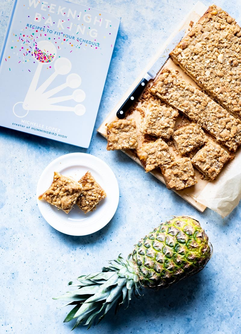 Tropical Jammy Pie Bars adapted from Hummingbird High's baking book