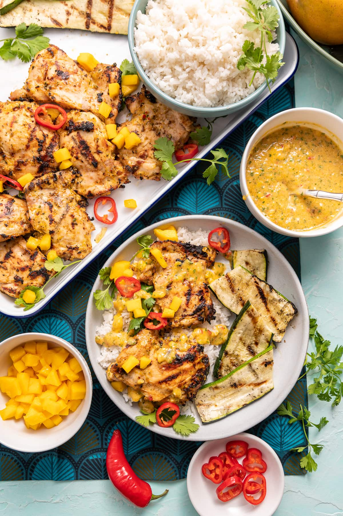 Sweet and Spicy Grilled Chile Mango Chicken