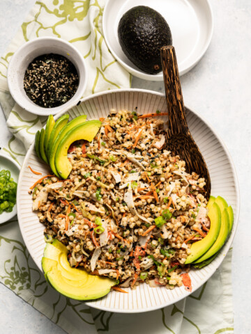 California Roll Salad with Farro and Pearl Couscous 8