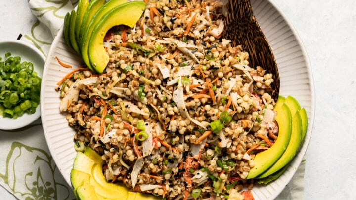 California Roll Salad with Farro and Pearl Couscous