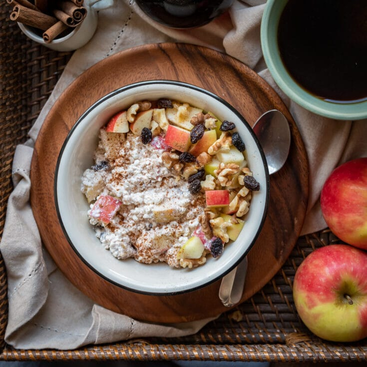 Maple Cinnamon Apple Cottage Cheese Breakfast Bowls featured image 1