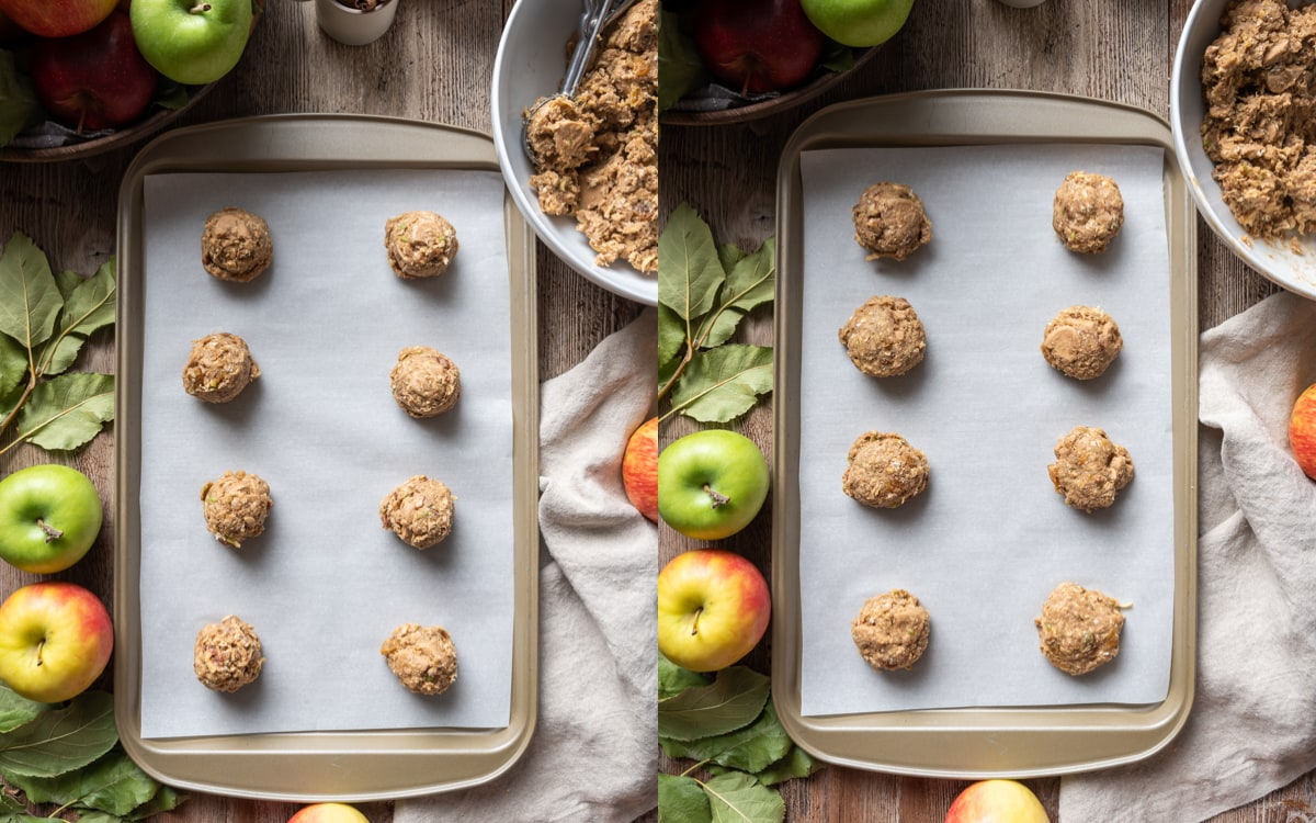 Apple Oatmeal Cookie Collage 3