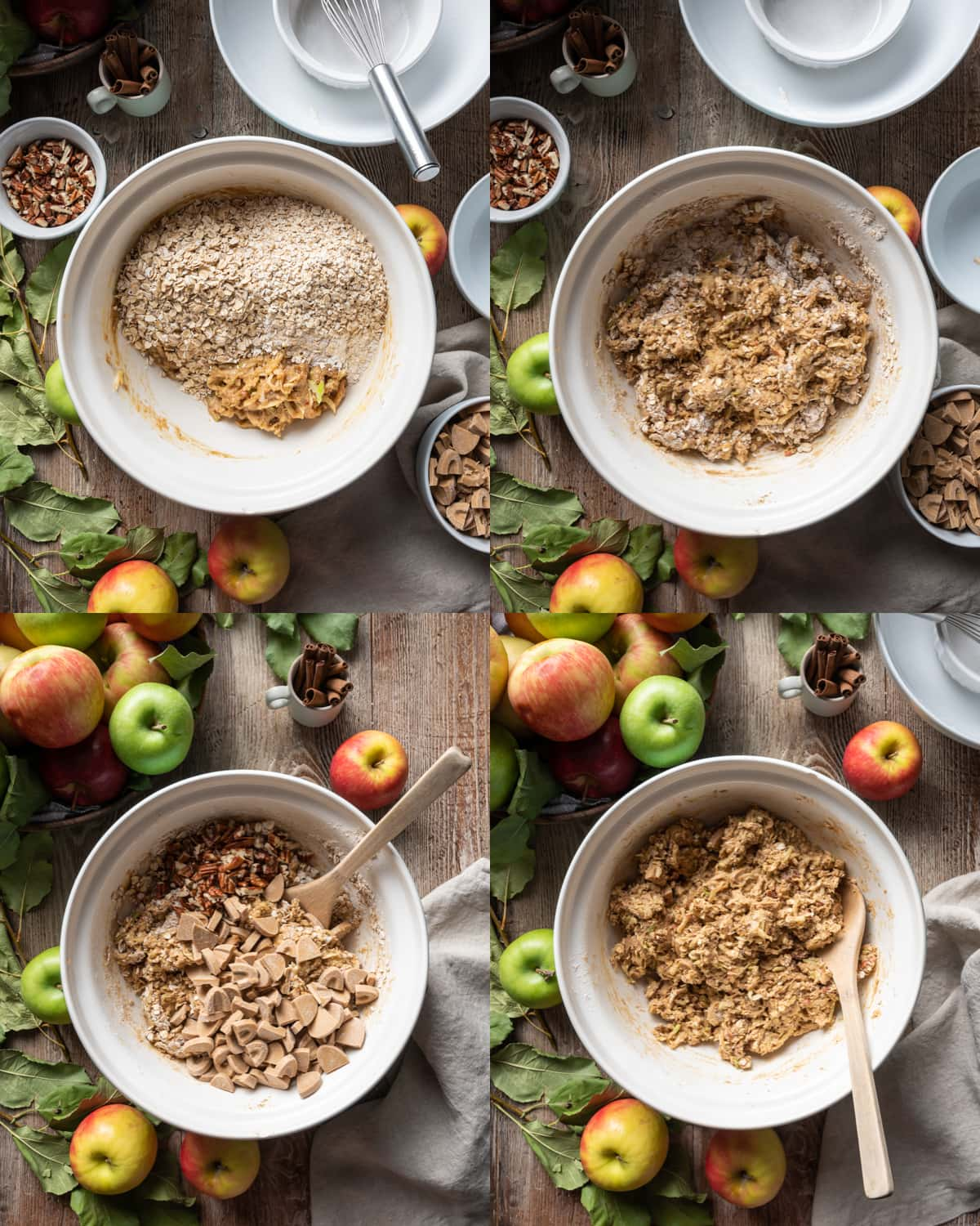Apple Oatmeal Cookie Collage 4
