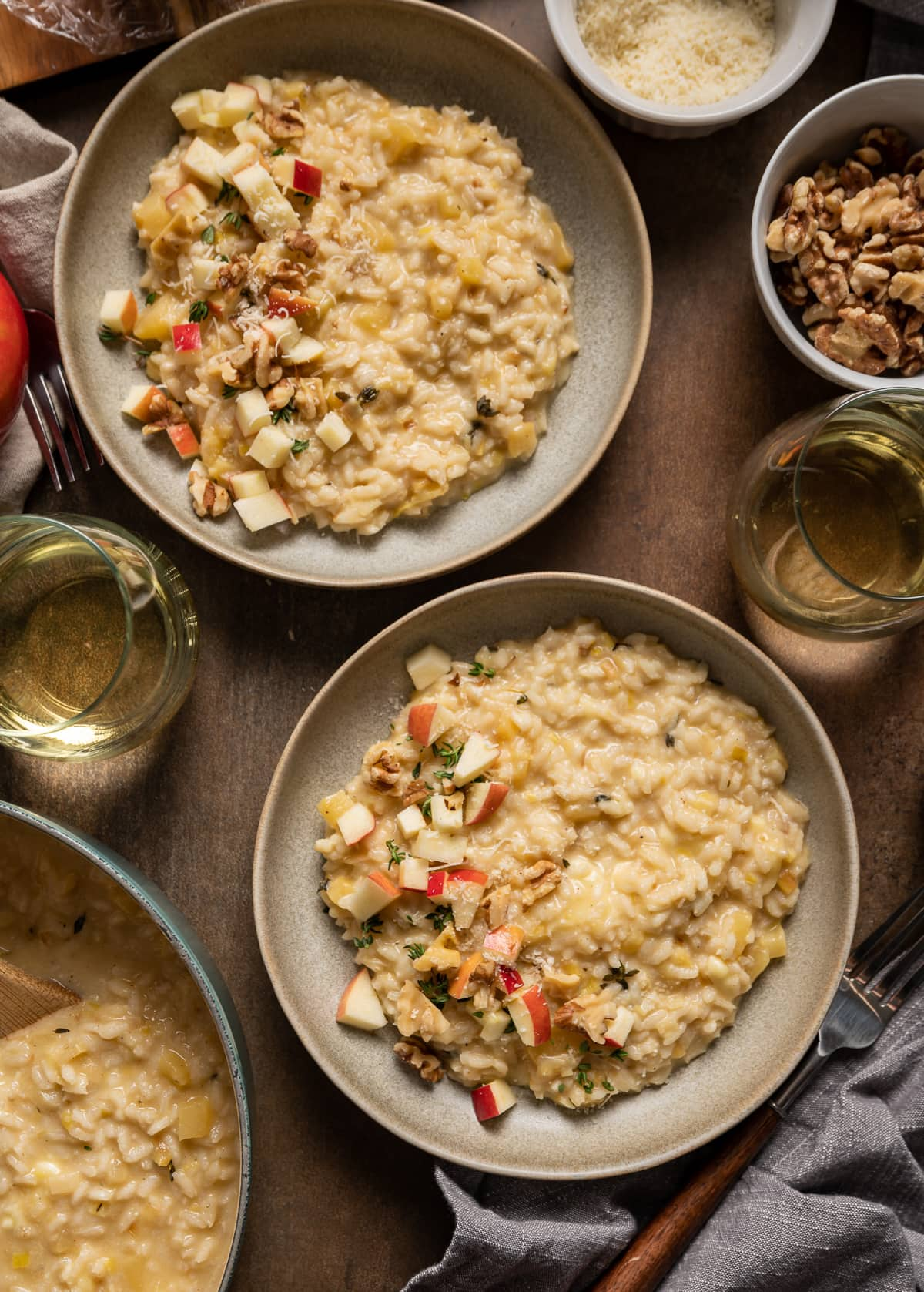 Caramelized Leek Apple and Brie Risotto 11