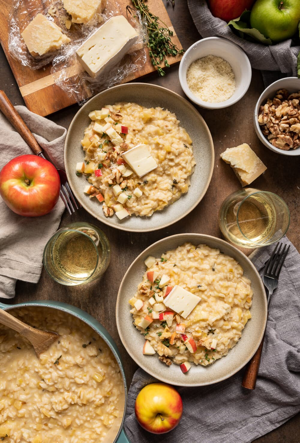 Caramelized Leek Apple and Brie Risotto 16