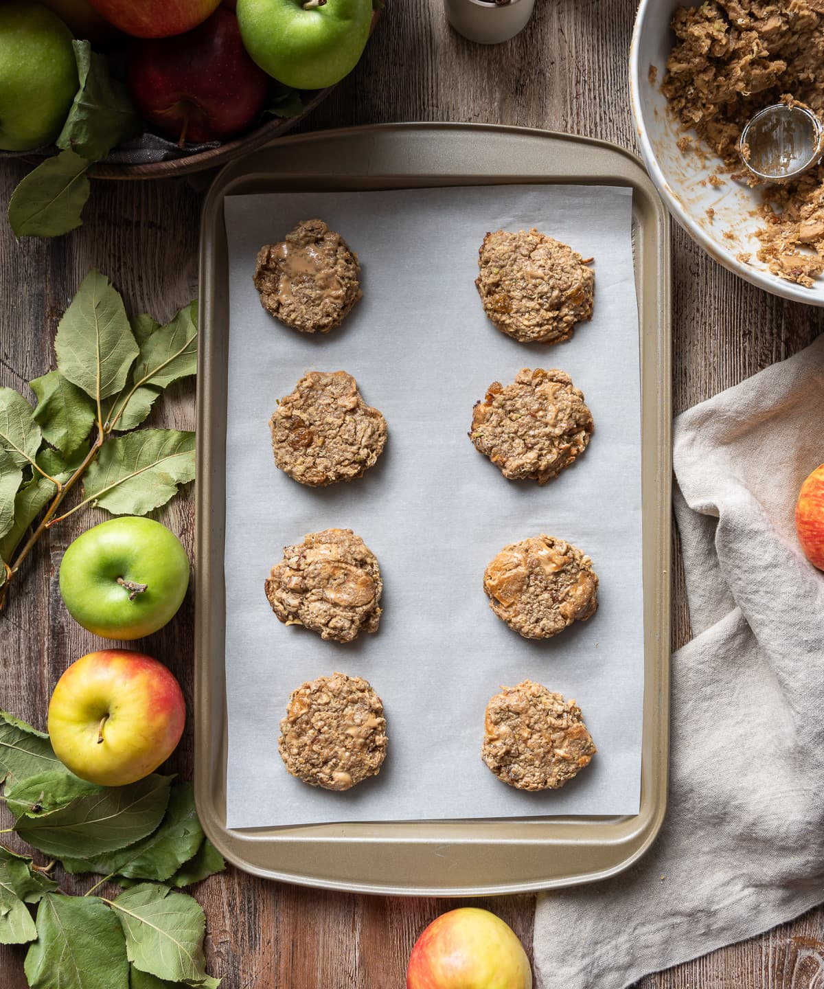 Soft Spiced Apple Oatmeal Cookies 16