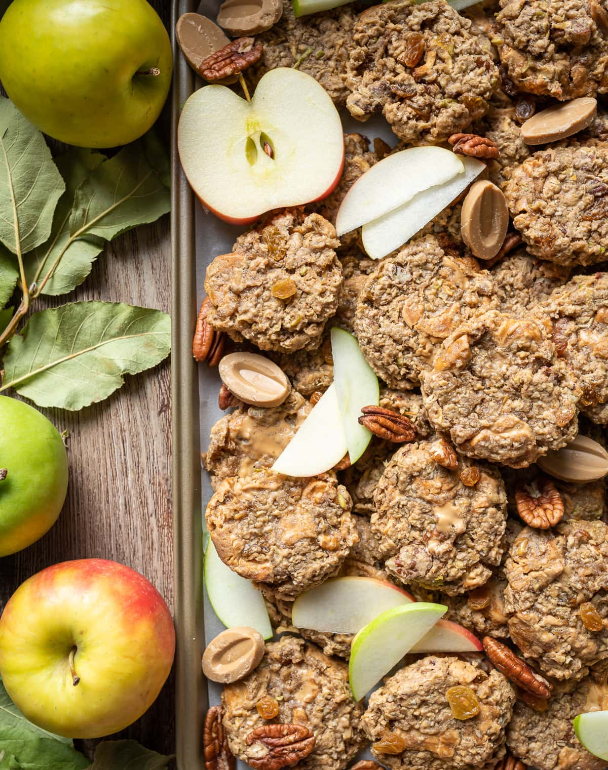 Soft Spiced Apple Oatmeal Cookies 18