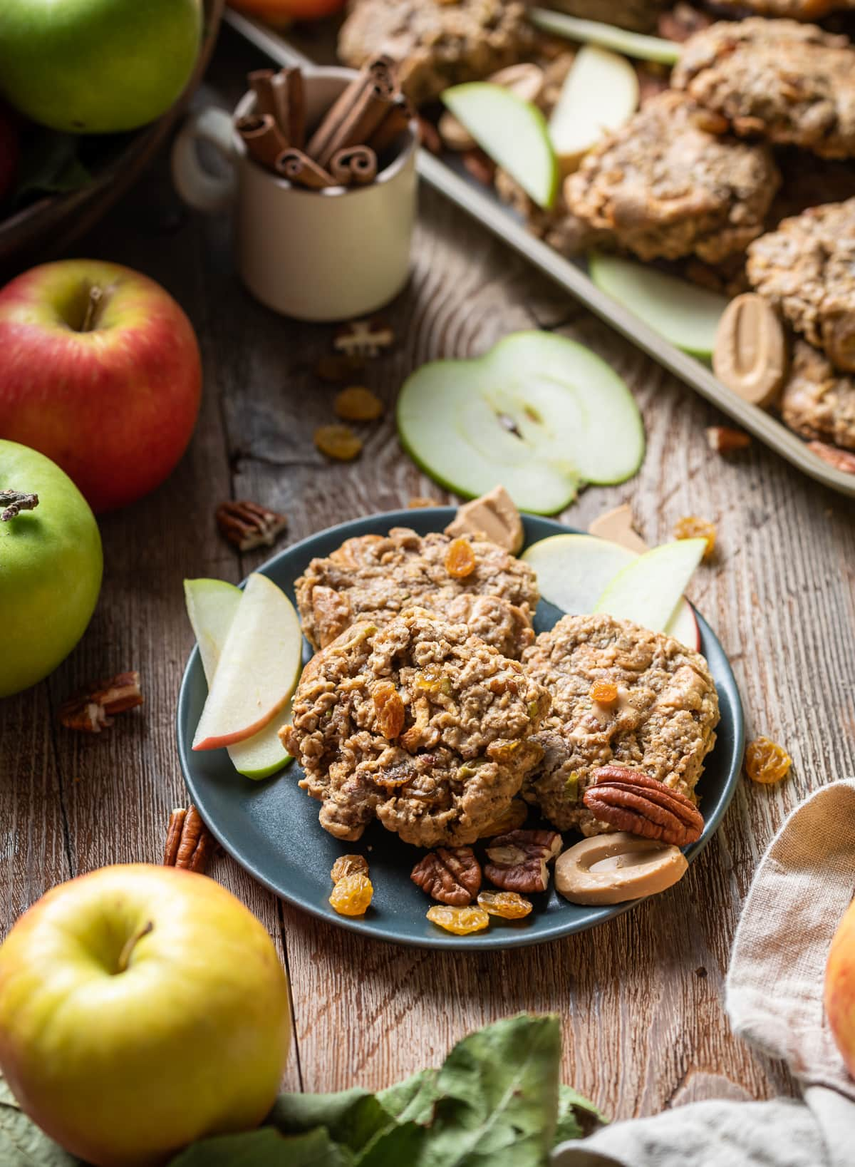 Soft Spiced Apple Oatmeal Cookies 22