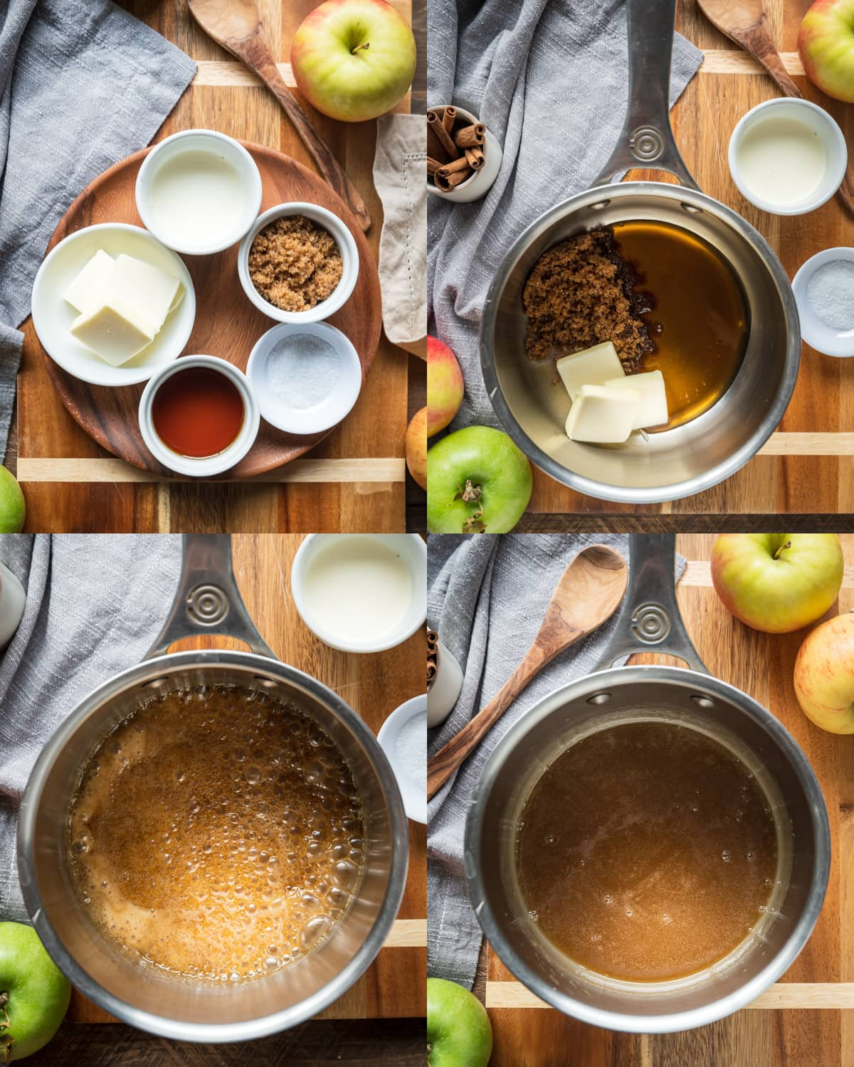 Spiced salted caramel process photos collage